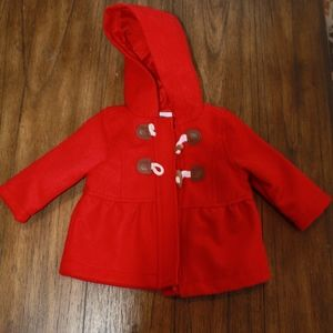 Old Navy Red Christmas Pea Coat